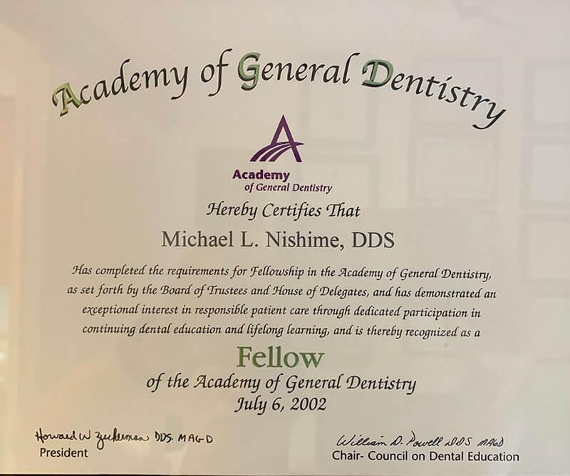 General Dentistry Certification